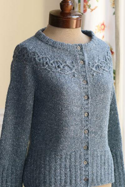 Knitting Pattern Yoke Cardigan : AudKnits   Tangled Yoke Cardigan