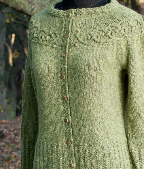 knitting, sweater, Tangled Yoke Cardigan, Interweave, Eunny Jang, Rowan Felted Tweed