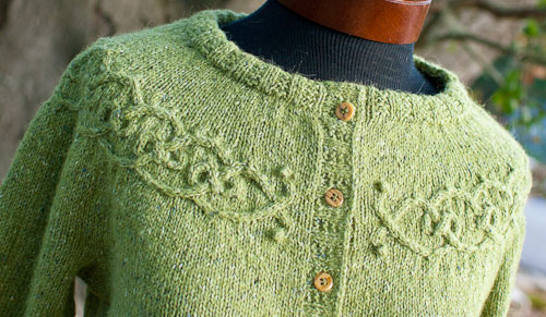 knitting, sweater, Tangled Yoke Cardigan, Rowan Felted Tweed, Eunny Jang