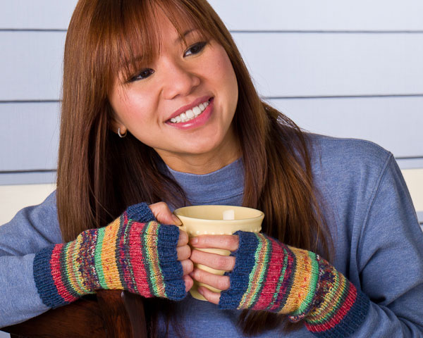 free pattern, fingerless gloves, Opal, Regia, sock yarn
