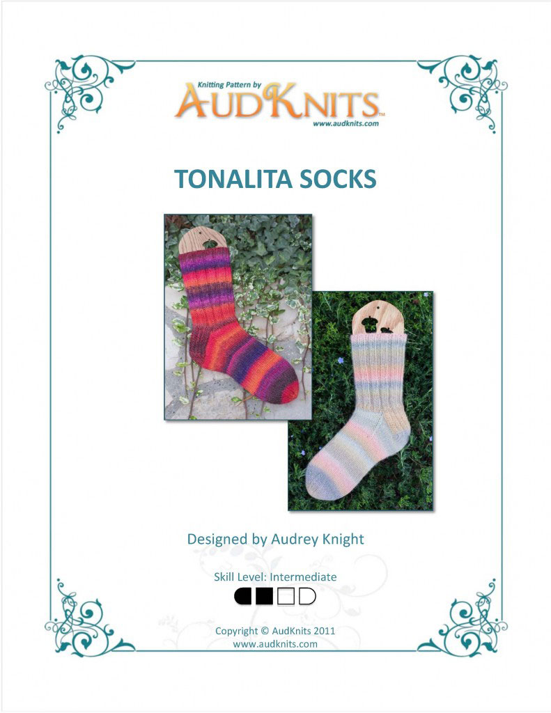 free knitting pattern, free sock pattern, Tonalita, sock knitting, socks
