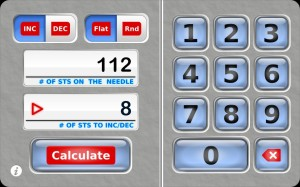 Knit Evenly Calculator, knitting app, iPhone, iPad, iPod Touch, knitting software