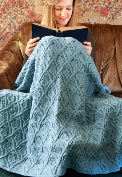 knitting pattern, throw, Quince & Co, Lark