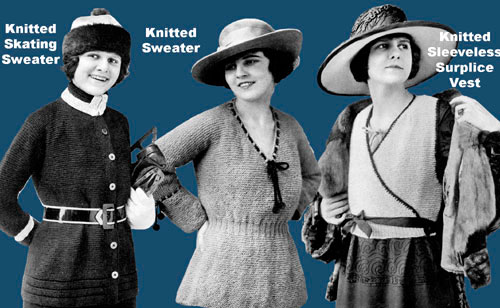 Downton Abbey KAL, period womens patterns, Iva Rose