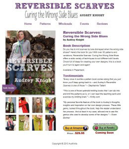 Reversible Scarves, knitting book, knitting patterns