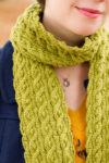reversible scarves, cables