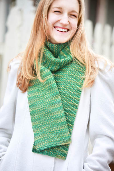 linen stitch scarf, reversible