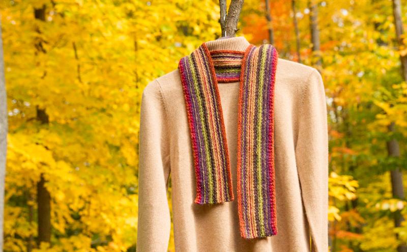 reversible scarf, Rowan Felted Tweed DK