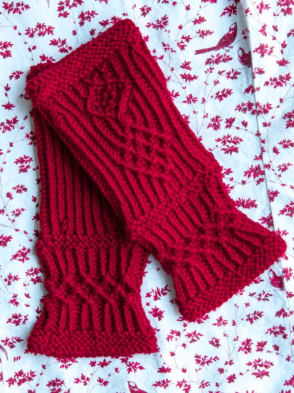fingerless mitts, Baah yarn