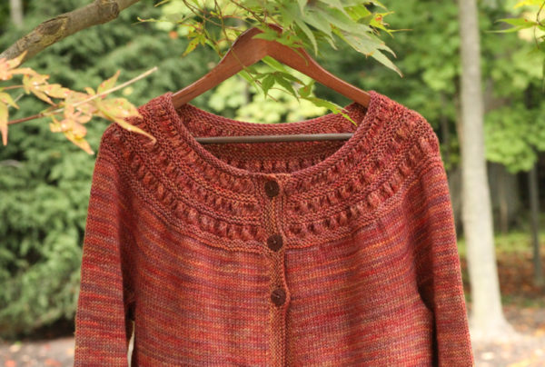 knitting cardigan, Tea Leaves Cardigan