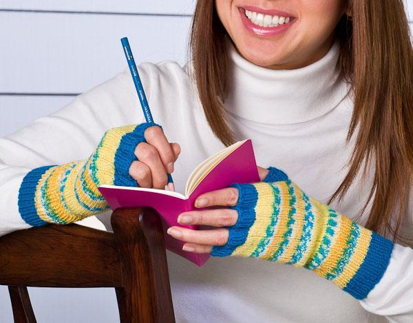 free pattern, fingerless gloves, Opal, Heritage, sock yarn