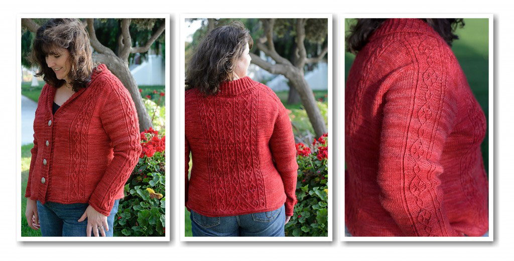 California Revival Knits, Stephannie Tallent, knitting book, Wrought Iron Cardi