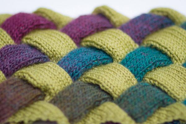knitting, entrelac, Craftsy, Gwen Bortner, cowl