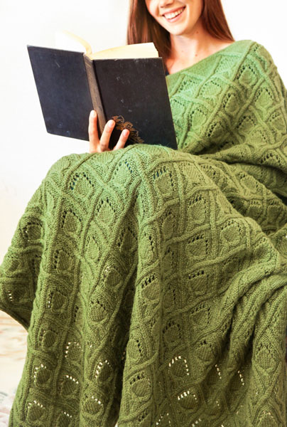 Knit Picks, IDP, Wool of the Andes, throw pattern
