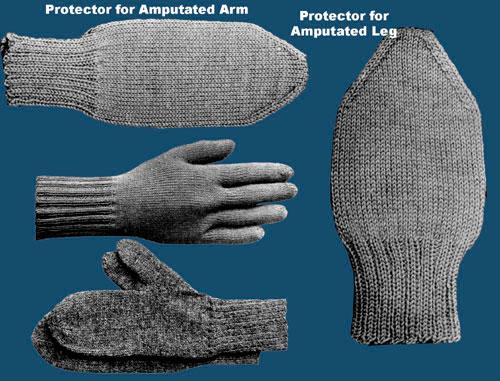 World War I patterns, amputation protector, vintage