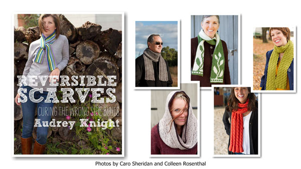Reversible Scarves, trunk show, Ball & Skein & More, Cambria, kniting scarves