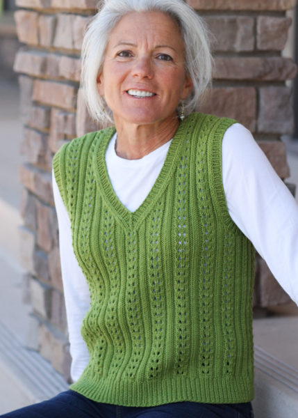 knitted vest, Lucy Vest,
