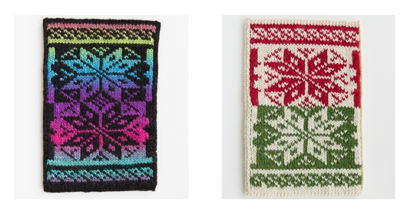 Let It Snow scarf swatches