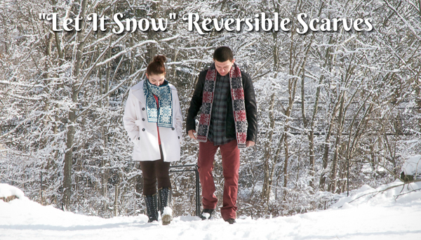 Let It Snow reversible scarves
