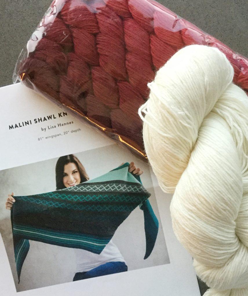 Shawl kit from Craftsy