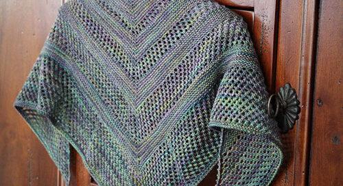 Reyna knitted shawl