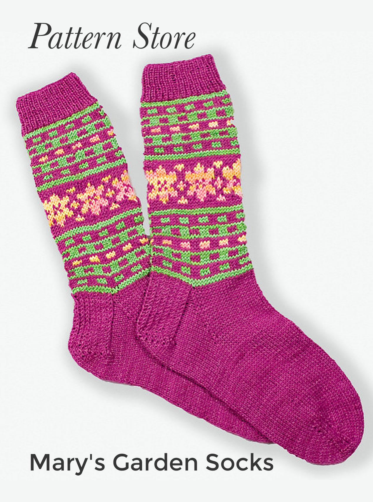 Mary's Garden Socks