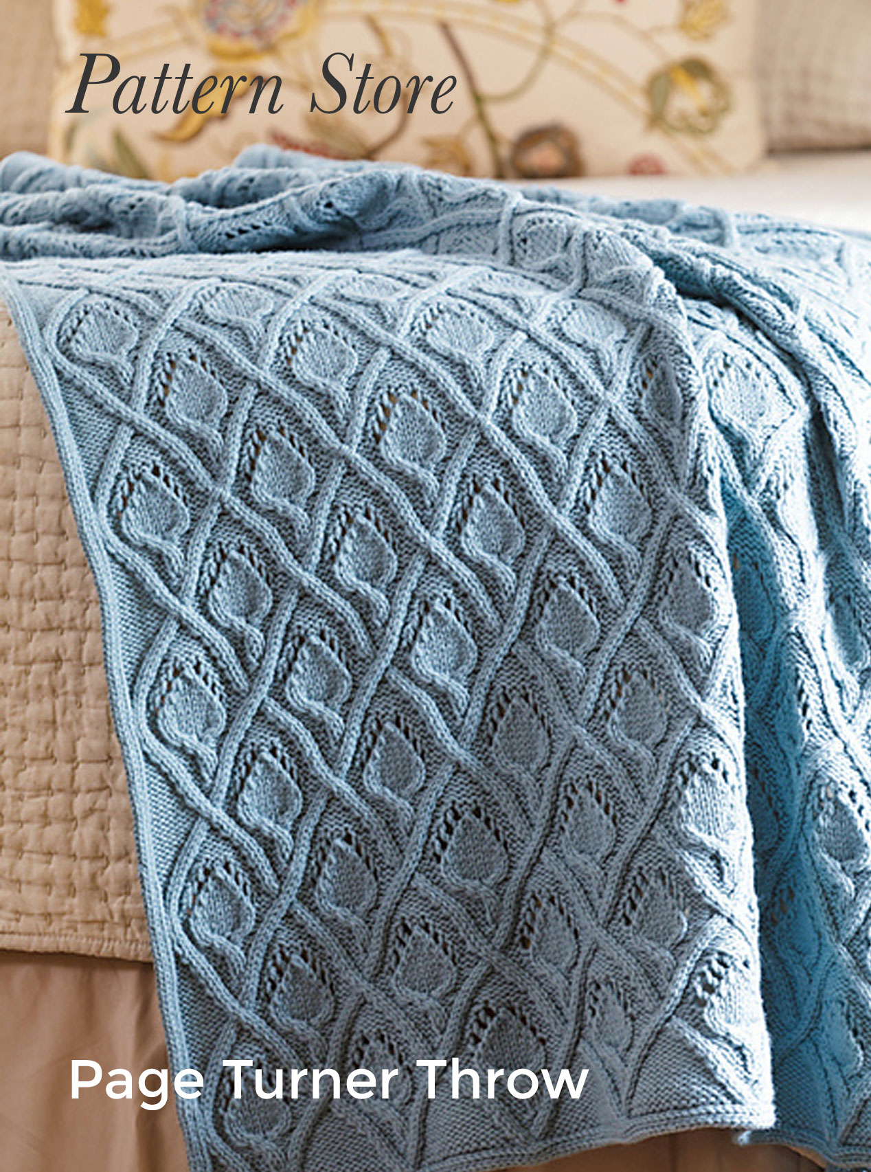 Page Turner Throw Pattern