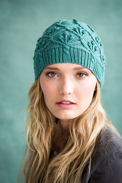 Vogue Knitting hat by Audrey Knight