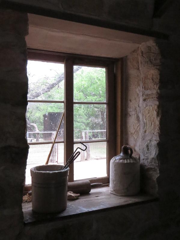LBJ stone cabin window sill