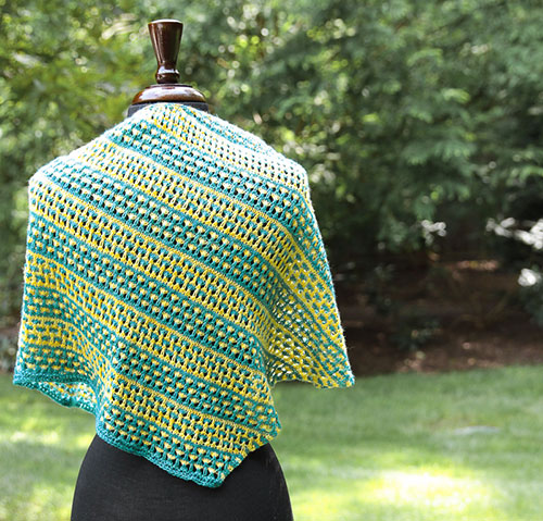 Love Child shawl back
