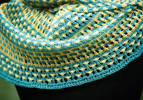 Love Child shawl detail