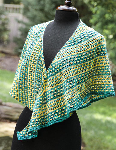 Love Child shawl front